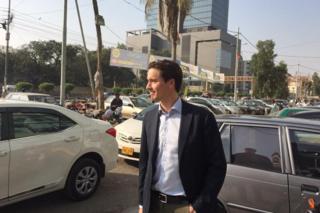 Mattias Martinsson in Karachi