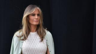 Melania Trump carrying out official duties as the First Lady