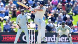 England's Mark Stoneman batting against New Zealand in March