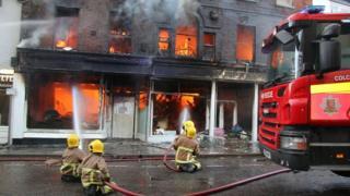 Firefighters in Sudbury