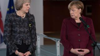 Theresa May and Angela Merkel