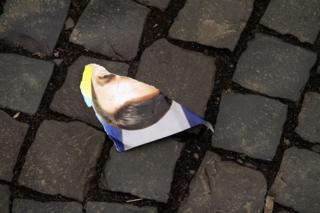 шматок фото Віктора Януковича
