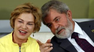 Lula with his wife Marisa Leticia in Brasilia - June 2007