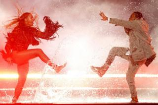 Beyonce performs Freedom with Kendrick Lamar at the Black Entertainment Television (BET) Awards in Los Angeles., California
