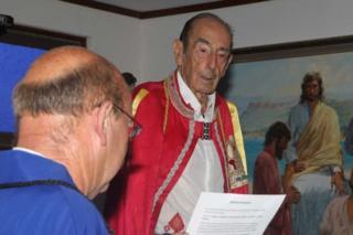 Prince Leonard, the former ruler of Hutt River
