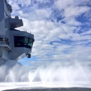 Firefighting foam tests on HMS Queen Elizabeth