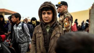 نازحون عراقيون في الموصل بسبب القتال