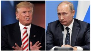 Donald Trump yashimagije prezida Vladimir Putin