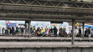 Protest at Piccadilly station