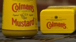 Jar and tin of Colman's Mustard
