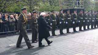 The event was led by President Michael D Higgins