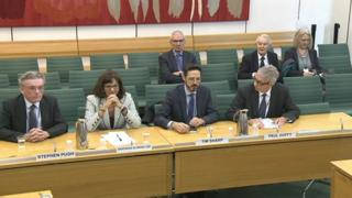 Witnesses at the Pensions Committee