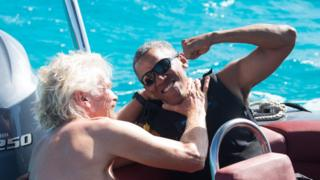 Обама и Брэнсон