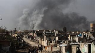 Iraqi forces now control eastern Mosul and more than a third of the west