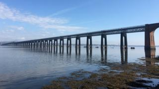The Tay rail bridge shot from Wornit in North Fife by Simon Gauld