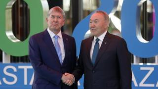 Алмазбек Атамбаев и Нурсултан Назарбаев в Астане