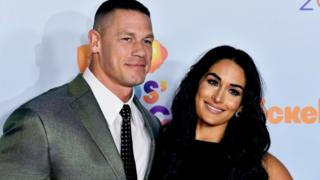 WWE stars John Cena and Nikki Bella