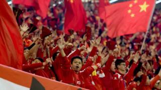 贺龙体育中心的中国球迷