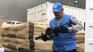 Capitán Jorge Vélez, miembro de las Fuerzas Armadas de Argentina y de la misión de Observadores de la ONU.