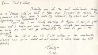 Steve Irwin's letter to his parents