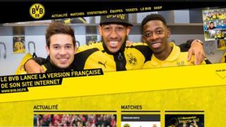 Sur http://www.bvb.de/fr, les fans francophones de Dortmund peuvent retrouver les informations diffusées jusqu'ici en allemand, anglais, espagnol et japonais