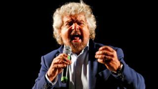 M5S leader Beppe Grillo, 26 Nov 16