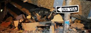 Quake damage in Guayaquil, 17 April