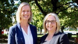 Tasmania's opposition leader Rebecca White and her deputy, Michelle O'Byrne