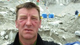 Newall Hunter at Everest base camp
