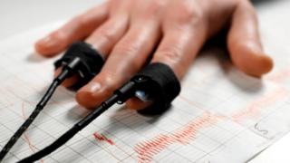 Stock photo of a lie detector test