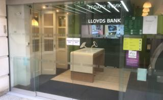 Lloyds branch in Paternoster Square in the City