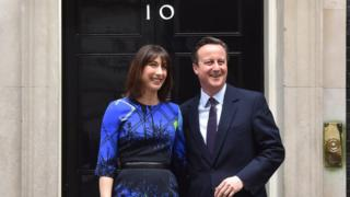 Samantha and David Cameron after the Conservatives' election victory