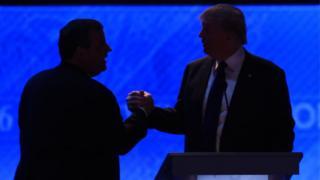 Chris Christie and Donald Trump