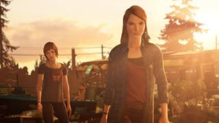 A screenshot of Chloe and Rachel from Life is Strange: Before the Storm