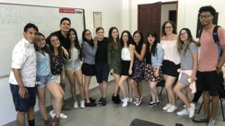 Students from the political science faculty
