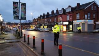 Scene of stabbing in Leeds