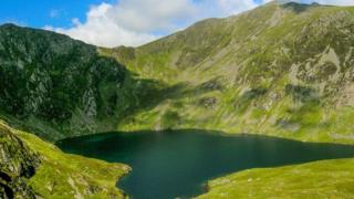 Looking to summit of Cadair Idris