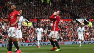 Manchester United a été tenu en échec à domicile (1-1) par Swansea.