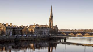 View of the River Tay running through Perth