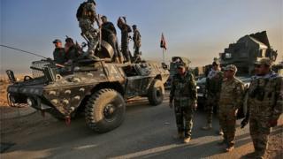 Dakarun Iraqi na dunfarar birnin Mosul