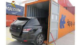 Cars were loaded into containers for export abroad