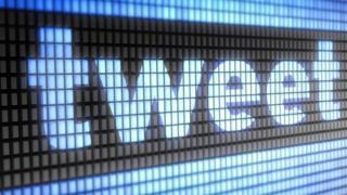 Tweet on computer screens
