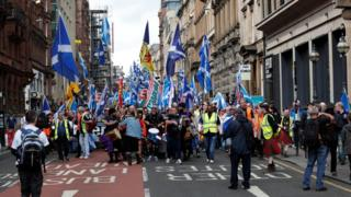 indy march in Glasgow