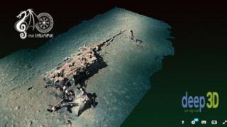 3D image of the sunken boat
