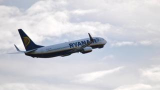 Picture of Ryanair plane