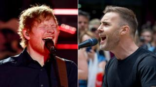 Ed Sheeran and Gary Barlow