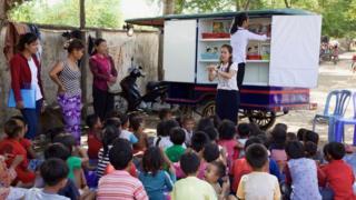 Cambodia tuk tuk library