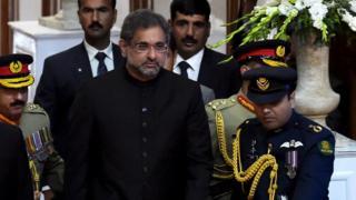 पाकिस्तानी प्रधानमंत्री शाहिद ख़ाकान अब्बासी