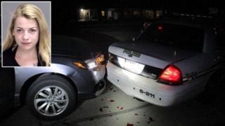Miranda Rader ve çarptığı polis aracı