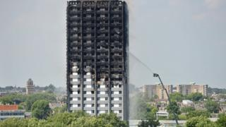 """Image copyright PA The Grenfell Tower fire in London started in a fridge-freezer, and outside cladding and insulation failed safety tests, police say.The Metropolitan Police say manslaughter, health and safety, and fire safety charges will be considered.A total of 79 people are feared dead after the blaze destroyed 151 homes in the Kensington tower block and nearby.In Salford, cladding is to be removed from nine of its residential tower blocks because of safety concerns.The city's mayor Paul Dennett said: """"Government tests are under way but is already clear the cladding on our blocks must be removed. There will be no waiting around... while there are any questions about the safety of our residents."""" Meanwhile, the government has ordered immediate testing of the Hotpoint fridge-freezer that was involved in the Grenfell fire.Whirlpool, which owns Hotpoint, said: """"We offer our most profound condolences to the victims, those who have lost loved ones, homes, and possessions, and .."""